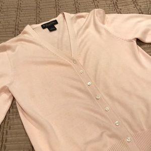 Brooks Brothers sweater, cardigan, soft pink, M